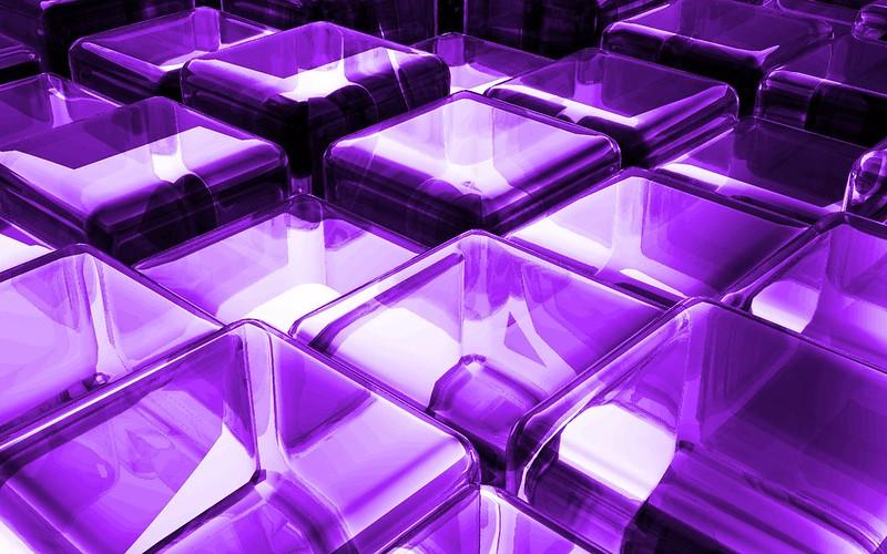 Обои поверхность, кубики, сиреневый, стекло картинки на рабочий стол, фото скачать бесплатно