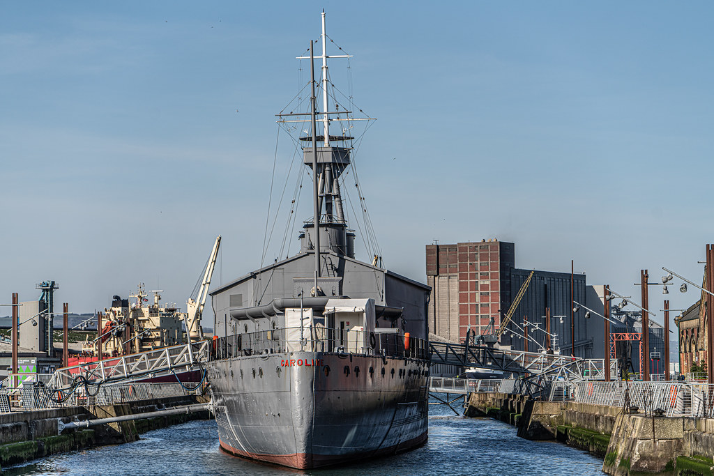 THE HMS CAROLINE ENTERED SERVICE IN 1914 AND NOW IT IS A FLOATING MUSEUM IN BELFAST 001