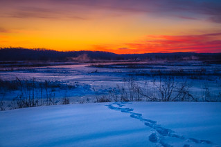 Winter Sunrise   by Heath Cajandig