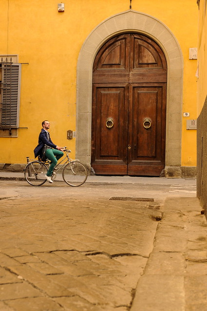 Green Pants on a Bicycle