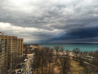 Clouds over Lake Michigan | by dschirf