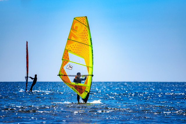 Windsurfer at The east beach of Enoshima : 江の島東浜にて