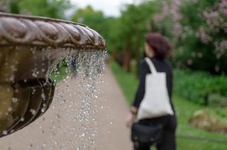Walking Near a Fountain | by Hattifnattar