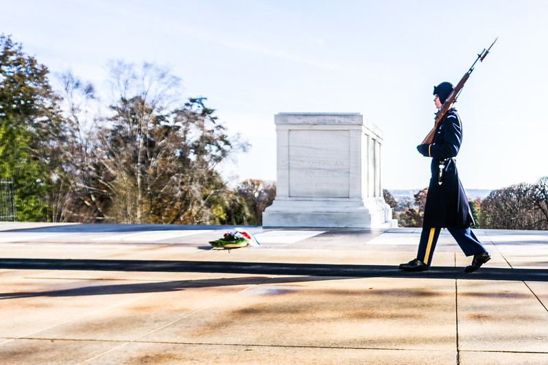 Tomb of the Unknown Soldier, Arlington National Cemetery, Arlington, Va., Nov. 2018