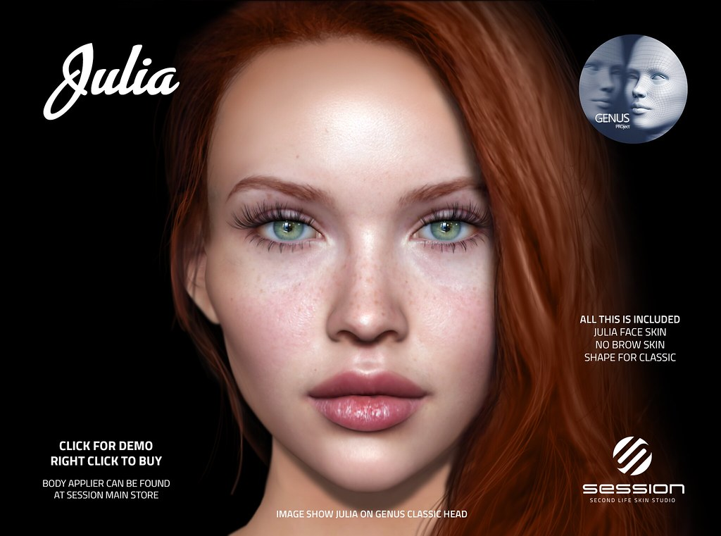 session ] Julia for Genus @ SKIN FAIR 2019   This skin wil