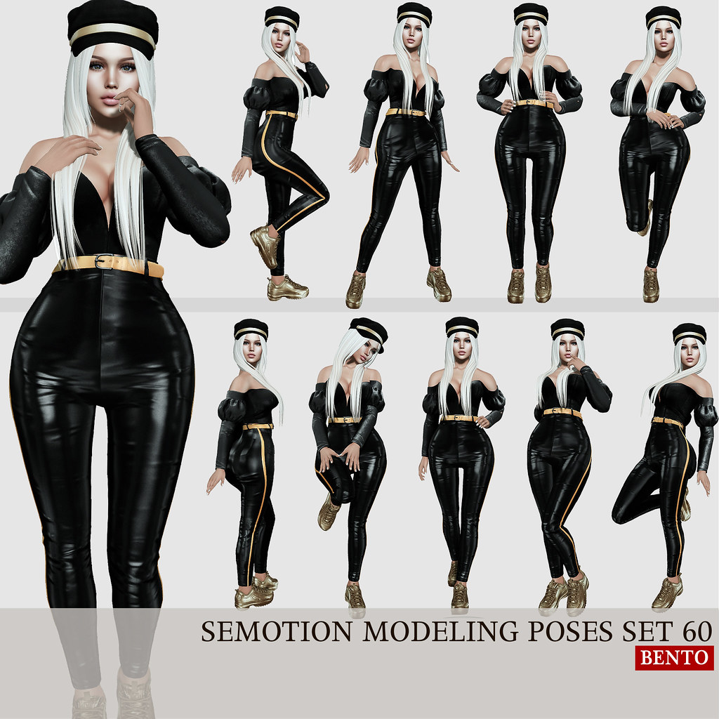 SEmotion Female Bento Modeling poses set 60