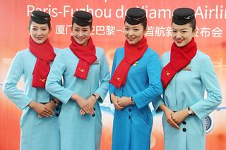 Stewardesses Xiamen Air