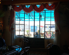 Costazul Coffee-Restaurant at 3,812 meters (12,507 ft) above sea level, Copacabana, Lake Titicaca, Bolivia.