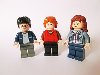 Harry, Ron & Hermione (Muggle clothes, fourth year onwards) | by Ptéra