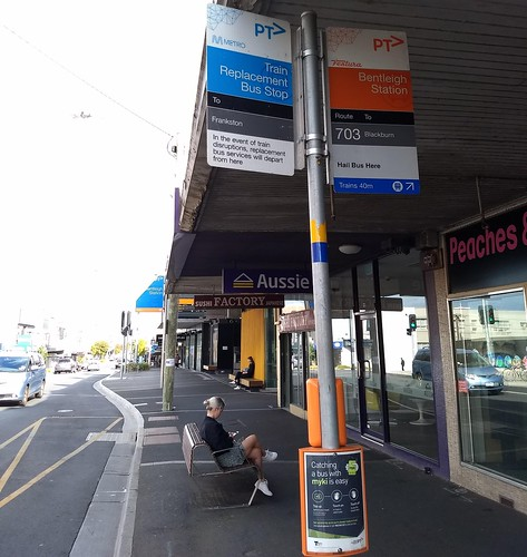 Bus stop timing point indicator: Bentleigh station | by Daniel Bowen