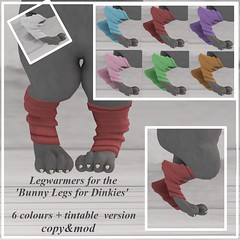Legwarmers for 'Bunny Legs for Dinkies'