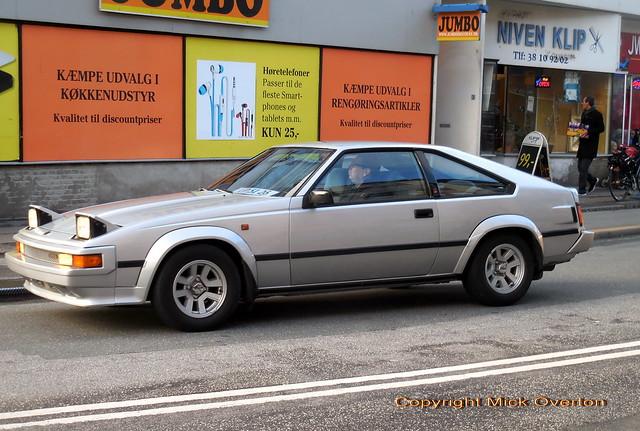 Rare 1981 - 1985 Toyota Celica liftback on Danish dealer plates looking like a Christmas gift!