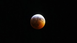 Lunar Eclipse -  Blood Moon entering totality