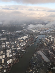 """Ah the Duwamish River, as seen from up here,"" I sighed to my aircraft seatmate as I took pictures."
