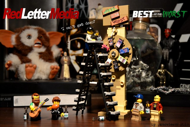 LEGO Red Letter Media - Wheel of the Worst - Mike can't get down!