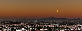Moon over Acueducto Panorama   by Carlos G. Diaz