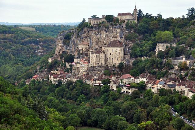 Rocamadour The village on rocks, (Rocamadour cité médiévale, Lot - France)