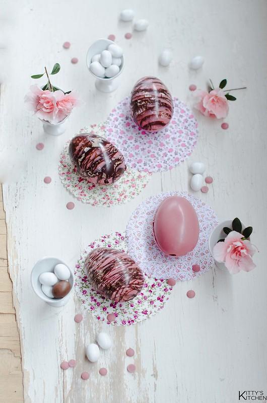 Uova di Pasqua al cioccolato Ruby