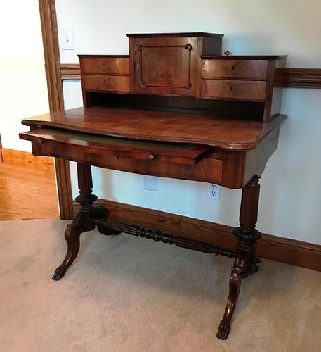 Burl walnut secretary desk | by thornhill3