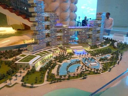 A model of Royal Atlantis Resort, The Palm, Dubai