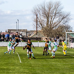 Michael Clark goes close with a header