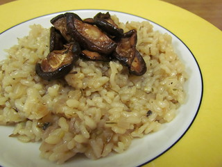 Fennel Breakfast Risotto; Smoky Shiitakes