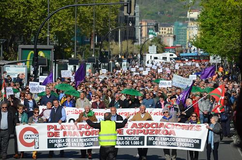 Pentsio duinen aldeko manifestazioa
