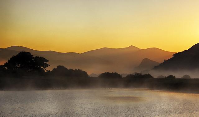 Misty summer sunrise ... Dysynni valley.