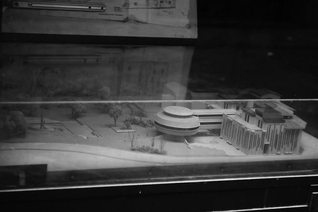 Futuristic architecture model in Florence