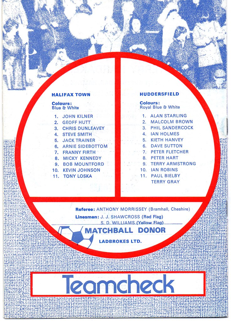 (Programme) 14-04-1979 Halifax Town 2-3 Huddersfield Town 2