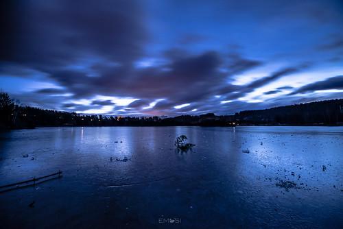 villach kärnten carinthia austria österreich silbersee sunrise sonnenaufgang eis ice reflection spiegelung nikond800 irix15mm24 clouds wolken