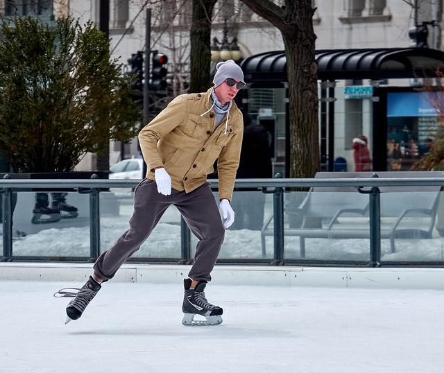 Lanky skater.