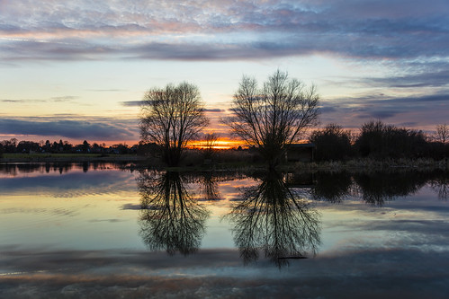 canon5dsr lake water reflection sky clouds colour landscape uk cambridgeshire outdoors nature trees silhouette