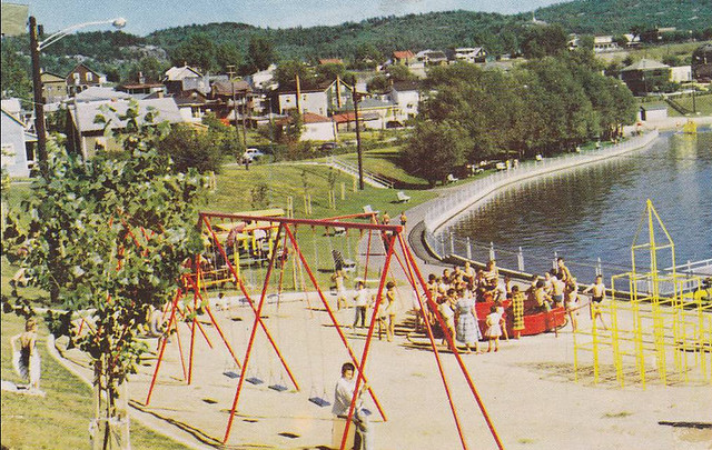 Playground on the Water, St. Louis Park, La Tuque, Quebec, Canada