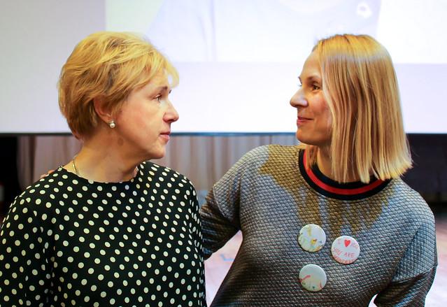 Мария Веденяпина и Дина Корзун в РГДБ
