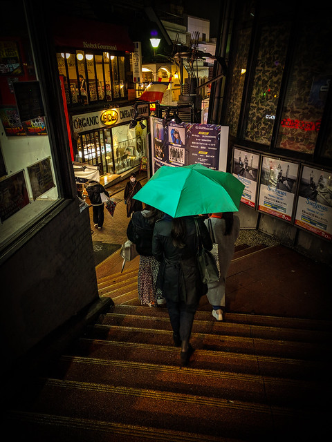 Follow the green umbrella