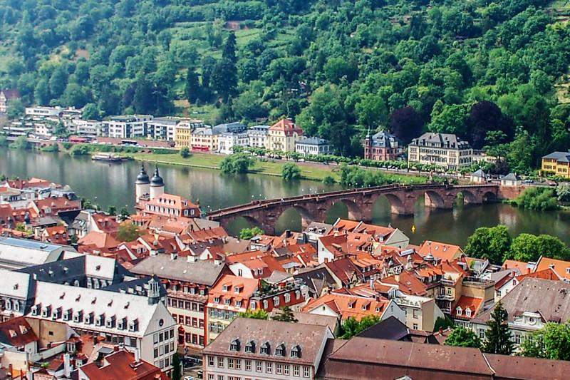 海德堡城堡俯瞰古橋