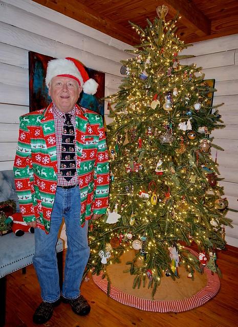The Dorkiest Christmas Self-Portrait I Ever Took