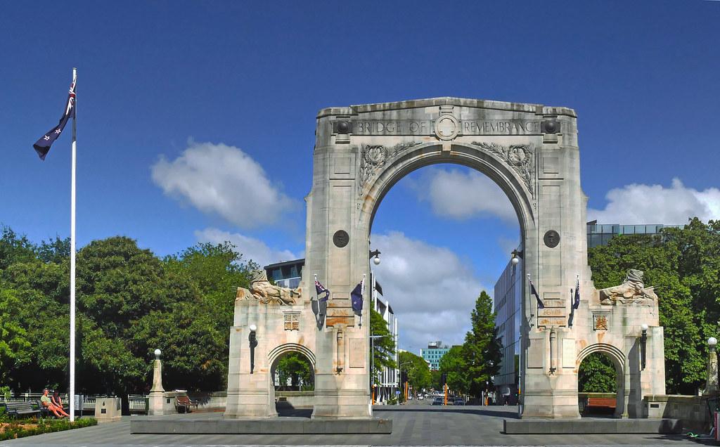The Bridge of Remembrance Christchurch.