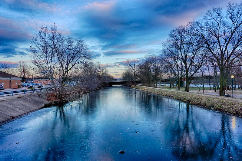 Winter at the Canal in Morris