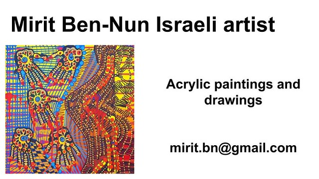 Mirit Ben-Nun artist art work for sale women exhibit acrylic