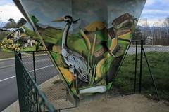 Graffiti - Le viaduc de Cery - Fleur-de-Lys, à Prilly