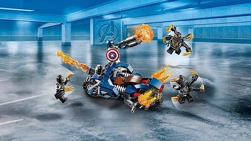 Captain America Outrider Attack (76123) | by Brickfinder