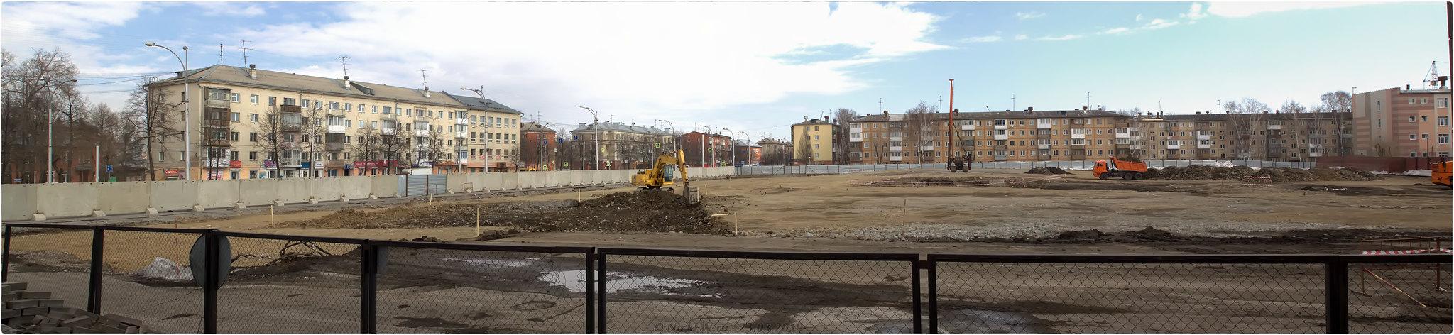 15. Панорама территории будущего Парка Ангелов © NickFW.ru - 23.03.2019г.