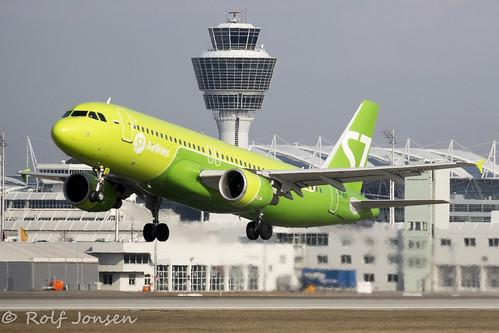 VP-BCP Airbus A320 S7 Airlines Munich airport EDDM 19.02-19 | by rjonsen