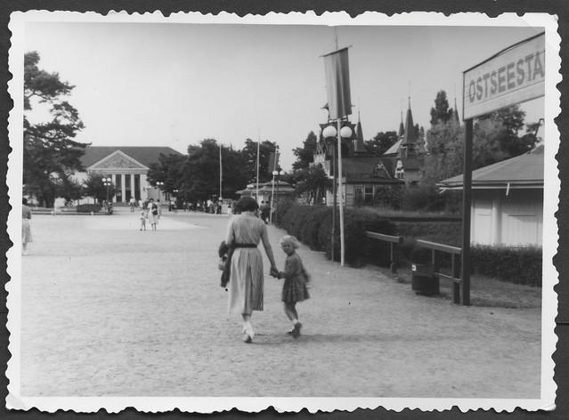 Archiv S807 Alte Kaiser-Wilhelm-Brücke, Kulturhaus, Heringsdorf, 1950er