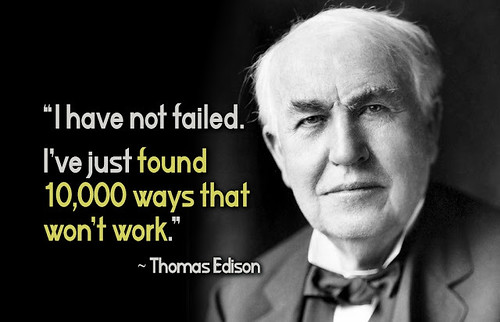 Edison quote 10,000 things   by Numismatic Bibliomania Society