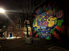 Rotterdam #mural by #ces53 @axisangelphase #nightshot #streetart #carforscale