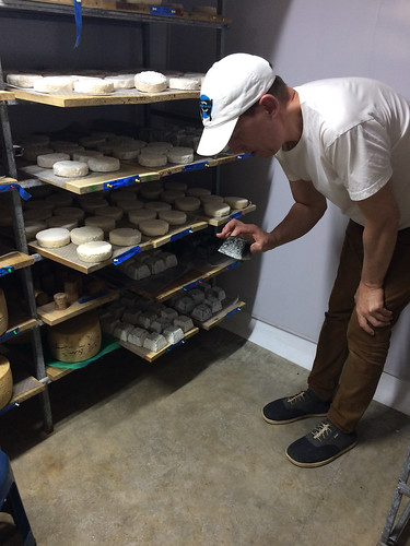 Taking a look inside the cheese cave at Quesos Monte Azul, Chimirol, Costa Rica | by WineAndCheeseFriday
