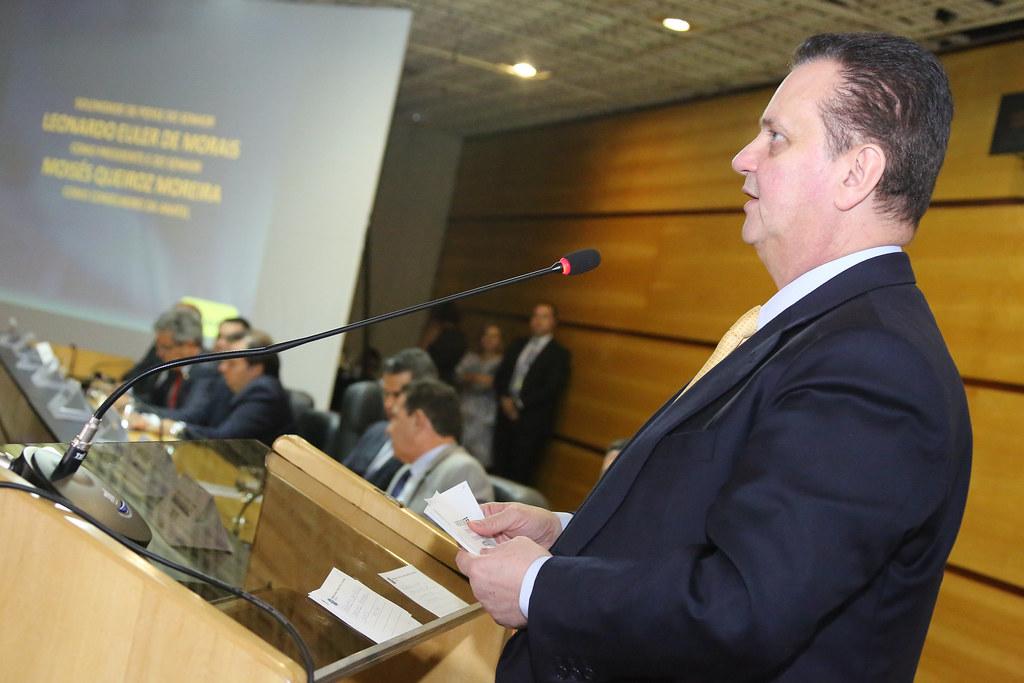20/12/2018. Brasília-DF. Ministro Gilberto Kassab, participa da cerimônia de posse do novo presidente da Anatel, Leonardo Euler, e do conselheiro Moisés Moreira. Foto: Bruno Peres/MCTIC.